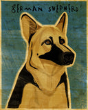 German Shepherd Art Block Sign