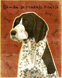 "German Shorthaired Pointer Art Block 4"" x 5"""