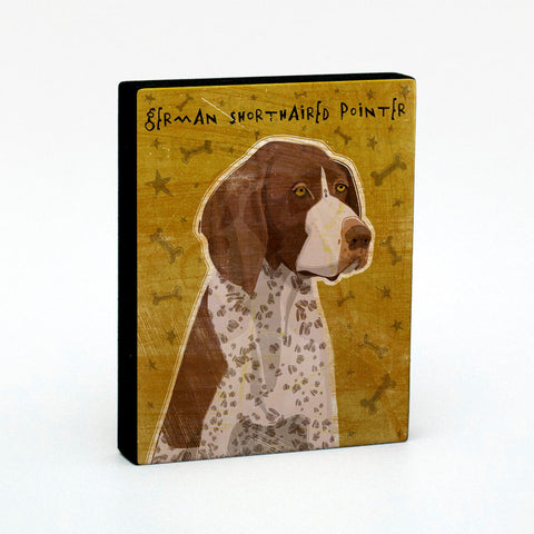 German Shorthaired Pointer Art Block