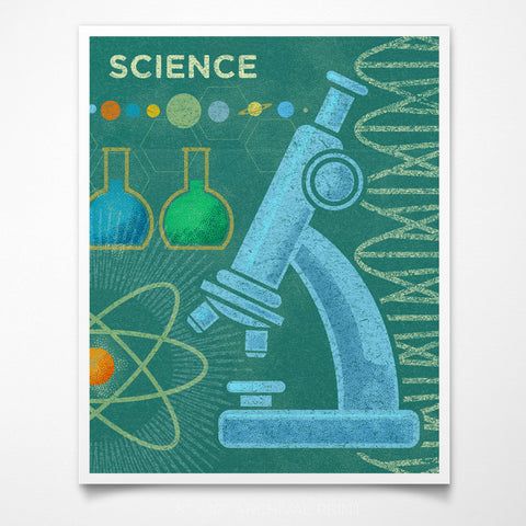"STEAM Room Science Art Print 8"" x 10"""