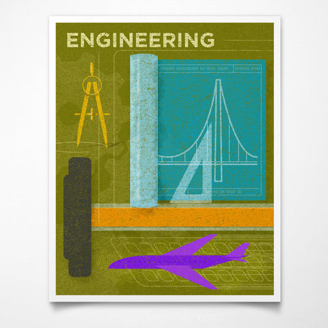 "STEAM Room Engineering Art Print 8"" x 10"""