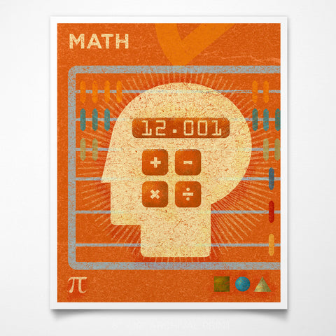 "STEAM Room Math Art Print 8"" x 10"""