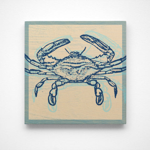 Atlantic Blue Crab Art Block