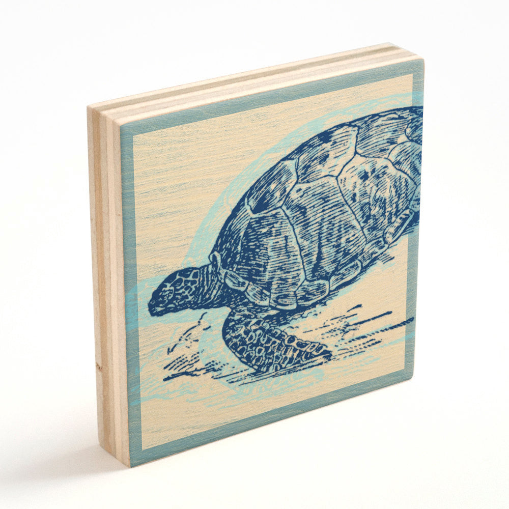 Sea Turtle Art Block