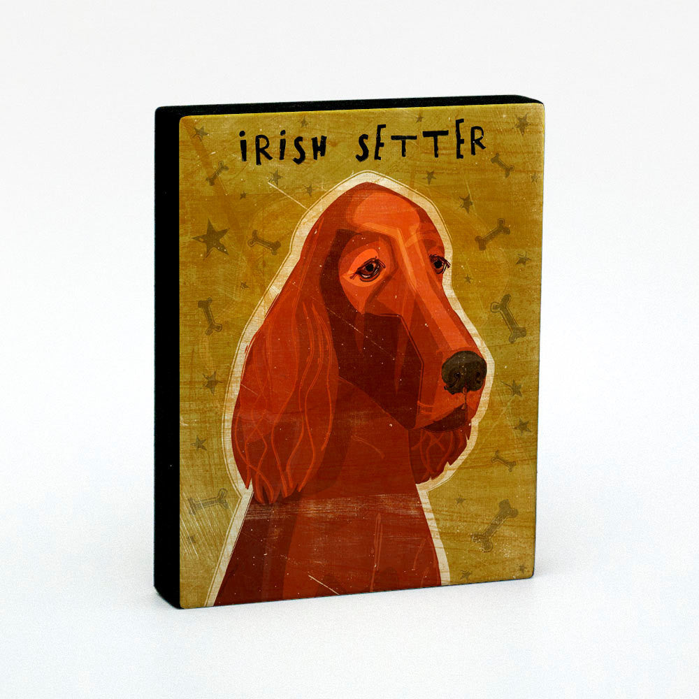 "Irish Setter Art Block 4"" x 5"""