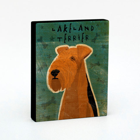 Lakeland Terrier Art Block