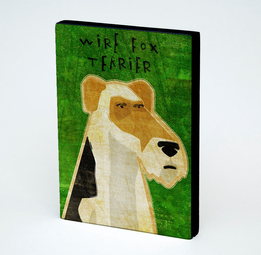 "Wire Fox Terrier Art Block 4"" x 5"""
