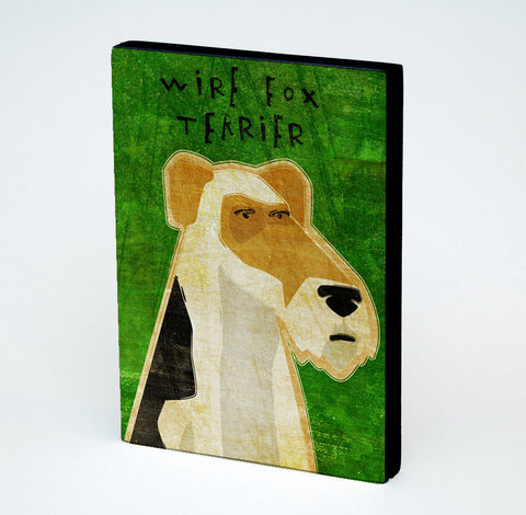 Wire Fox Terrier Art Block