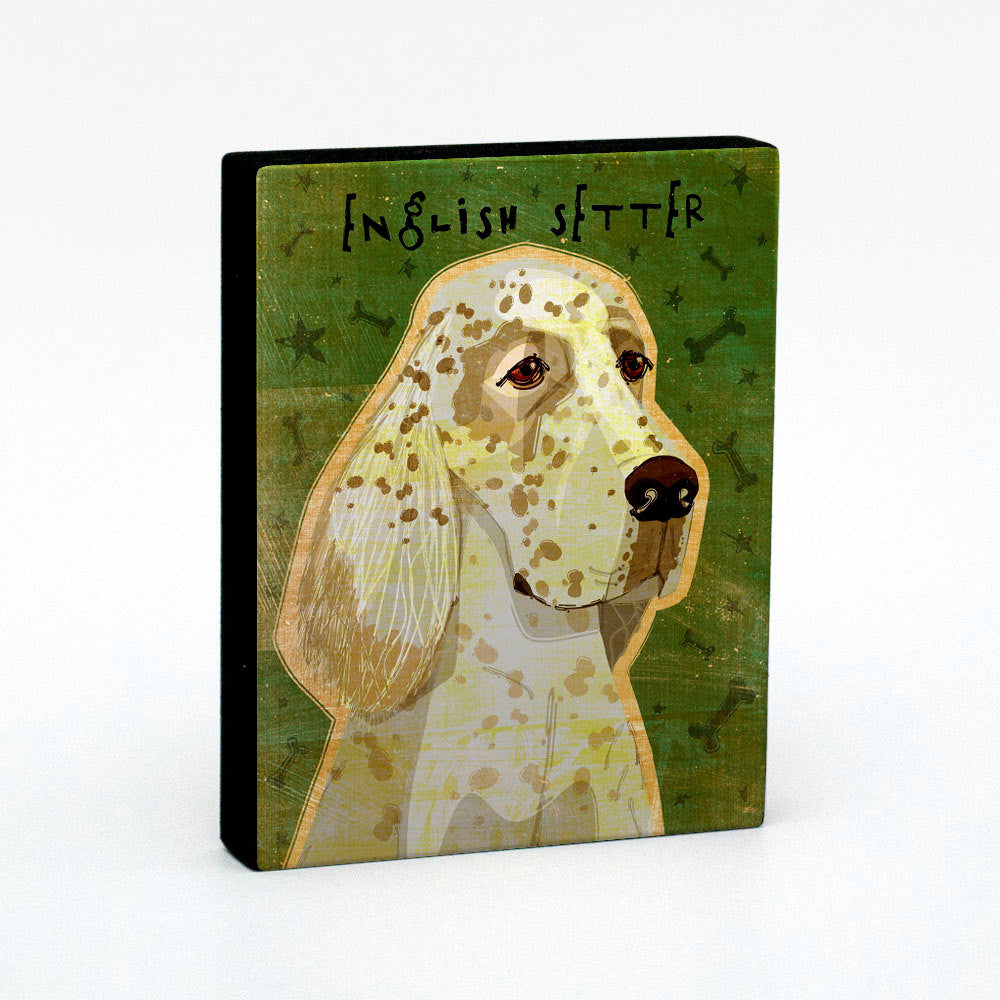 "English Setter Art Block 4"" x 5"""