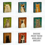 "Cat Gift Idea-Personalize Your Kitty Cat Name Sign 4""x5"""