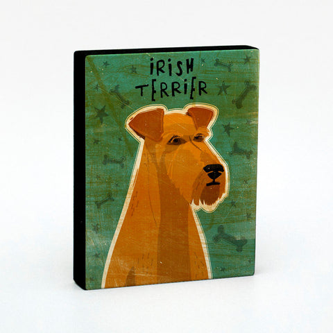 Irish Terrier Art Block
