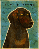 "Plott Hound Art Block 4"" x 5"""