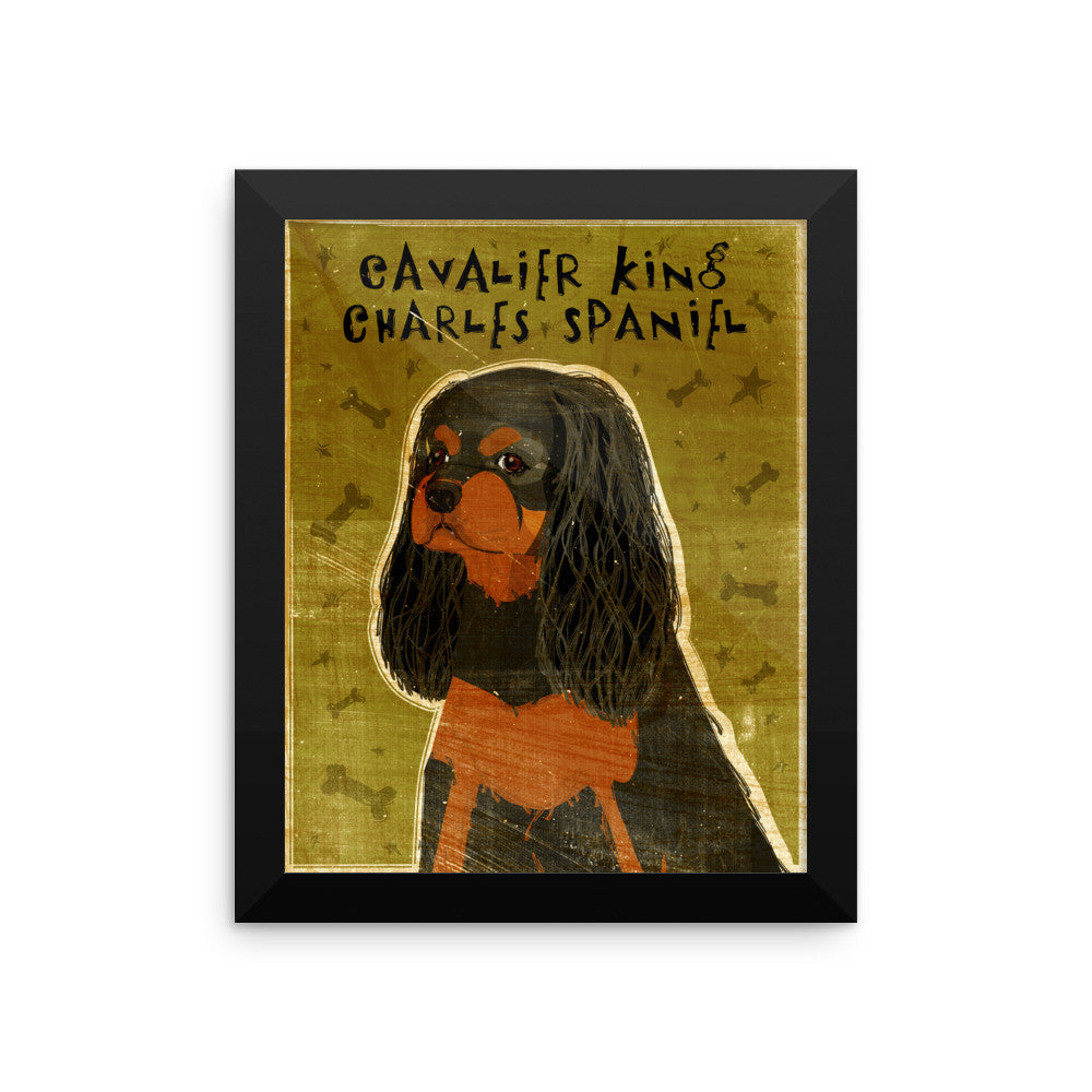 Black and Tan Cavalier King Charles Spaniel Framed poster