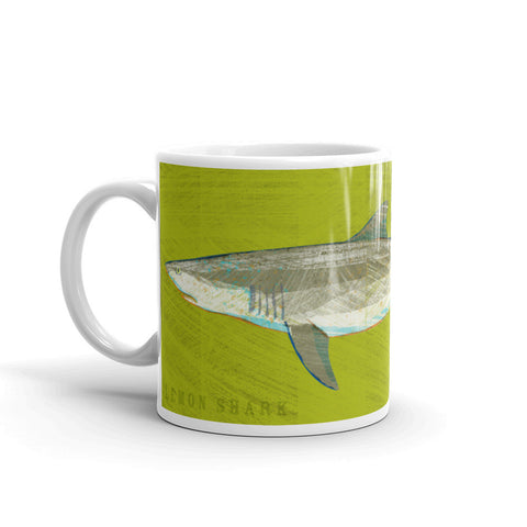 Lemon Shark Mug by John W. Golden