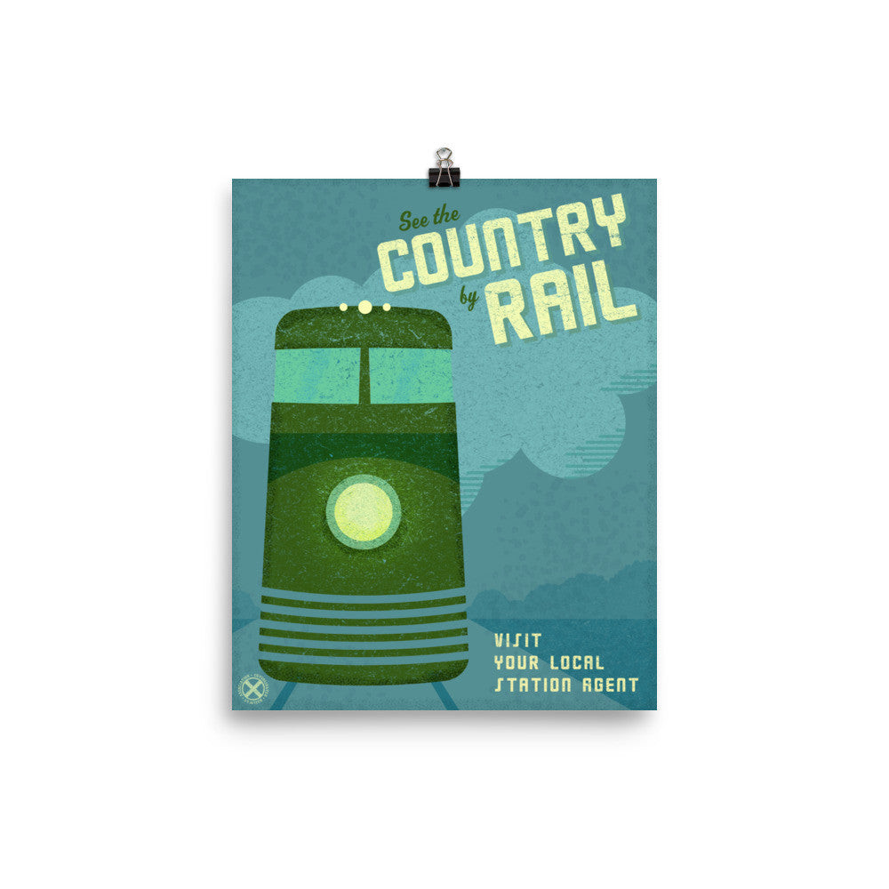 See the Country by Rail Train Poster