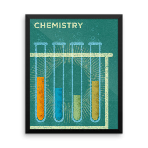Chemistry Framed Poster - Science Series Poster