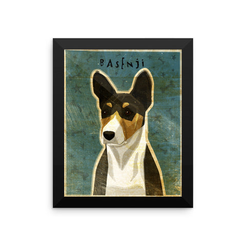 Basenji Framed poster- Tri-Color