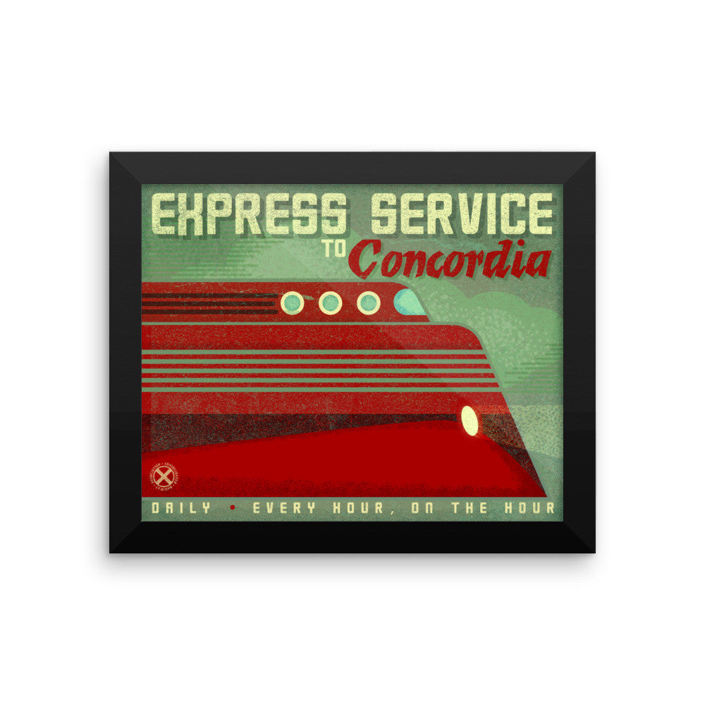 Express Service Train Framed poster - Personalize with your City