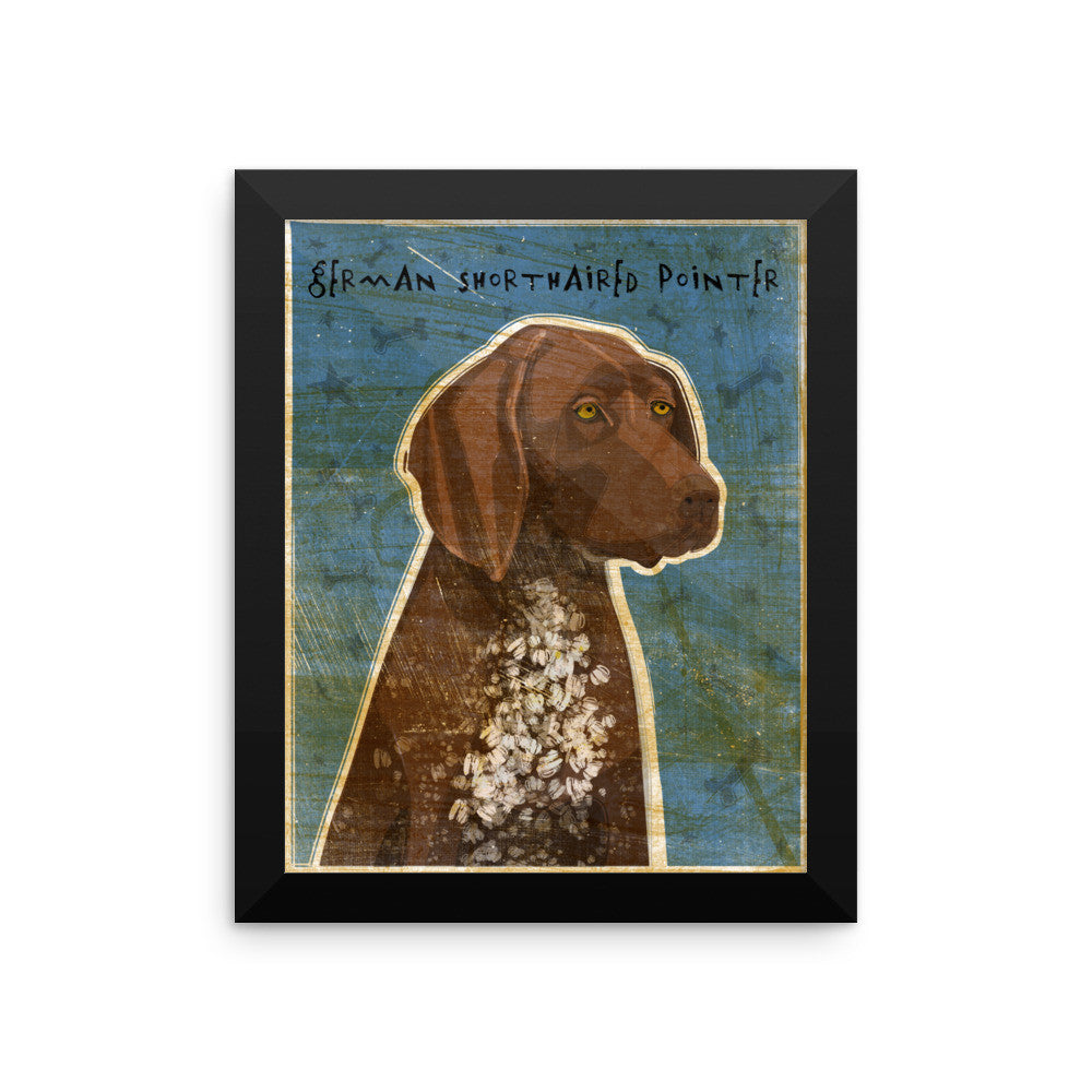 Liver Roan German Shorthaired Pointer Framed poster