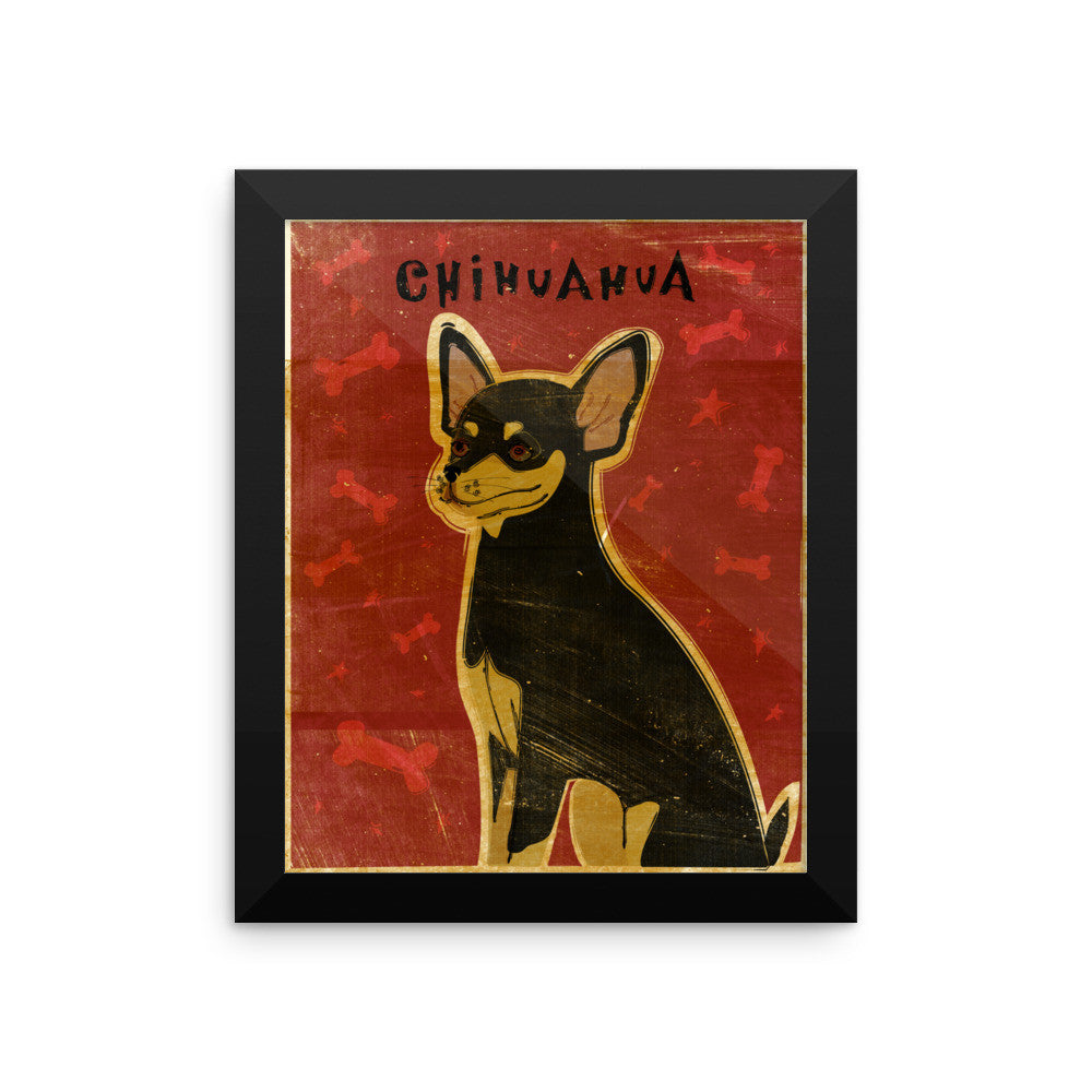 Black and Tan Chihuahua Framed poster