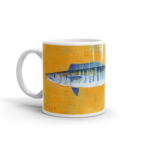 Wahoo Mug by Saltwater Fish Artist John W. Golden