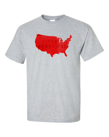 America, the Beautiful Short sleeve t-shirt