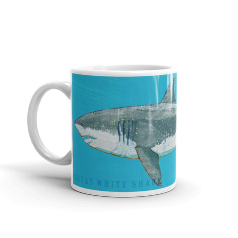 Great White Shark Mug by John W. Golden