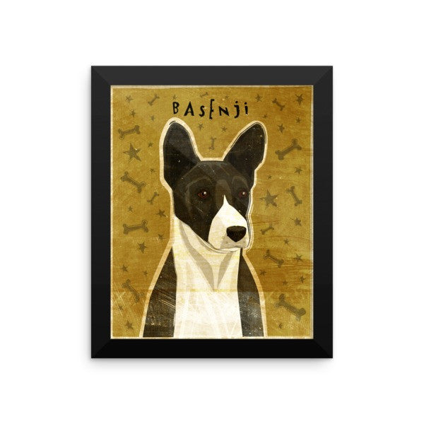 Black Basenji Framed Poster