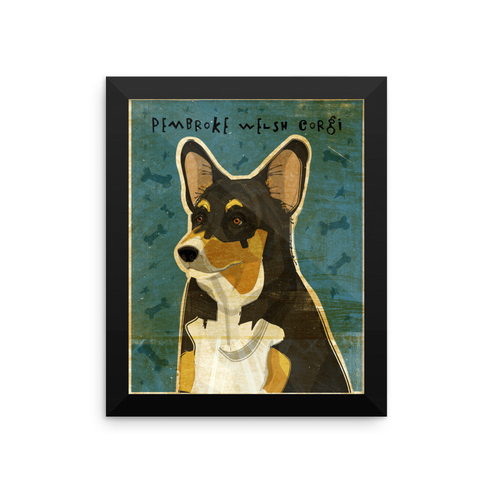 Tri-Color Pembroke Welsh Corgi Framed poster