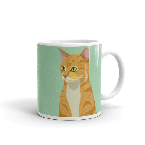 Orange Tabby Mug - Orange Tabby Cat Mug
