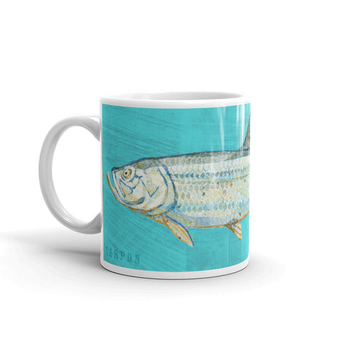 Tarpon Mug by Saltwater Fish Artist John W. Golden