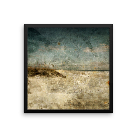 Masonboro Island No 1 Framed Beach Photograph