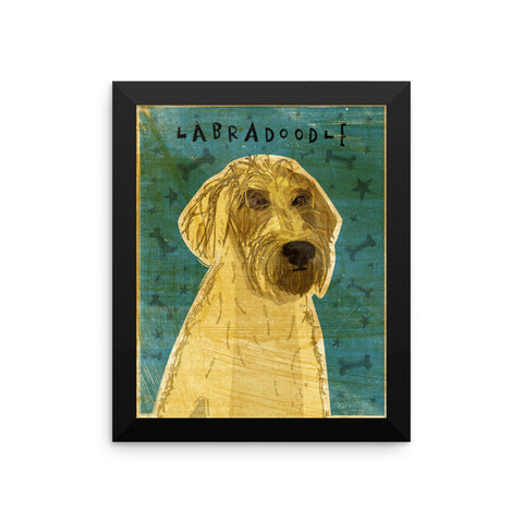 Yellow Labradoodle Framed poster