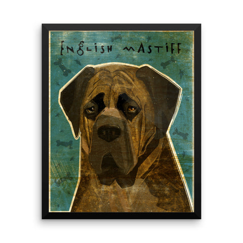 Brindle English Mastiff Framed poster