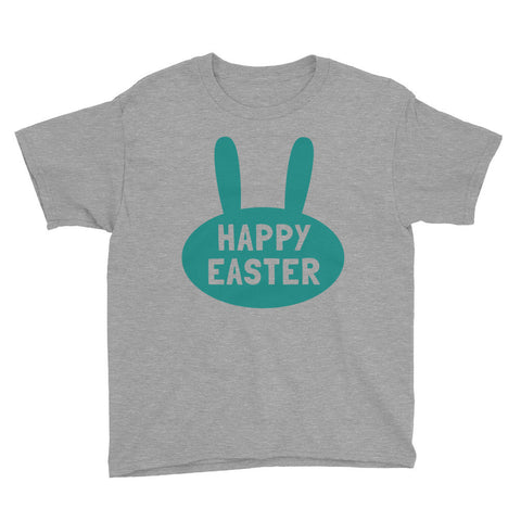 Happy Easter Youth Short Sleeve T-Shirt- Bunny Head