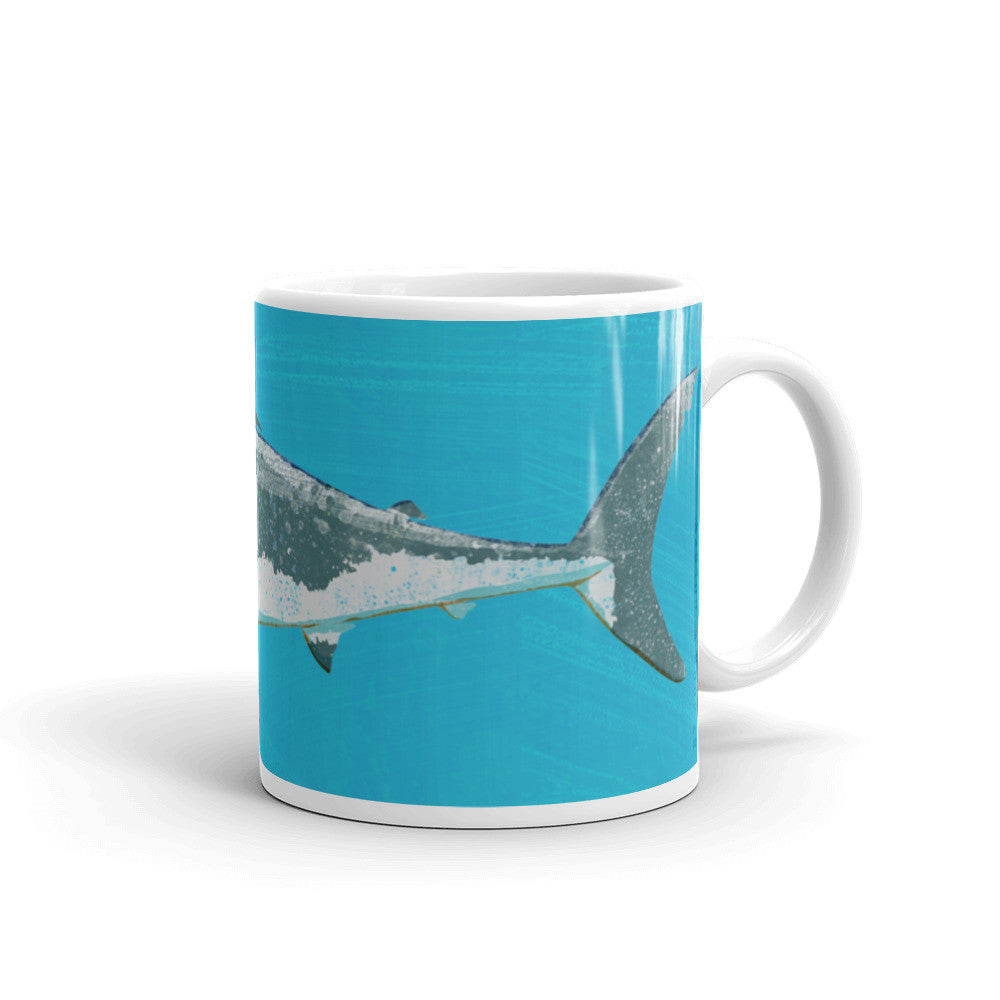 Great White Shark Mug featuring art by John W. Golden