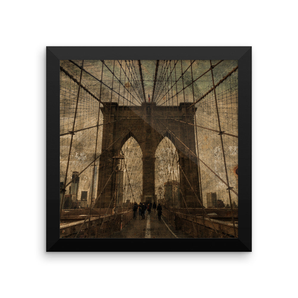 Brooklyn Bridge Framed poster No.2
