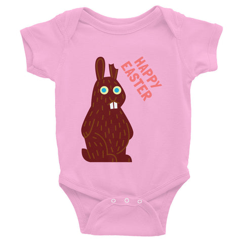 Happy Easter Infant Bodysuit- Chocolate Bunny