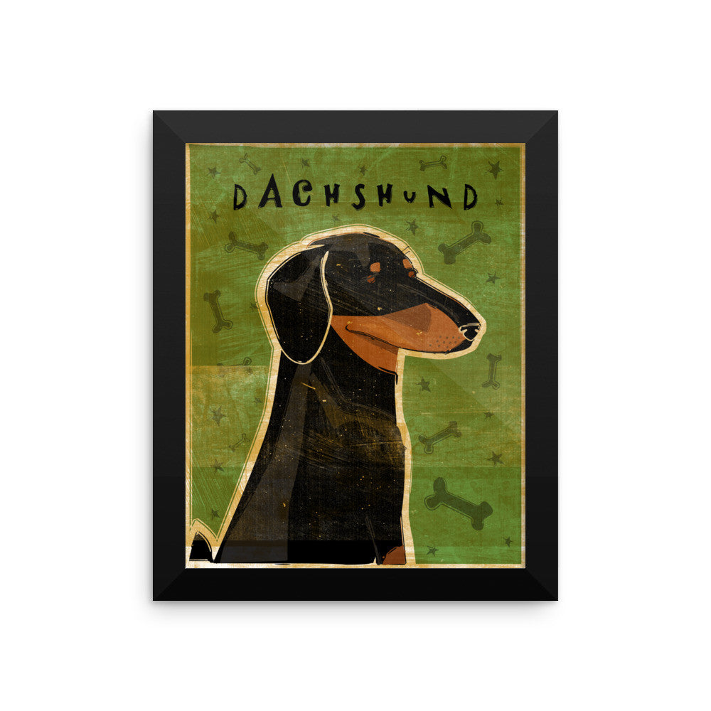 Black and Tan Dachshund Framed poster