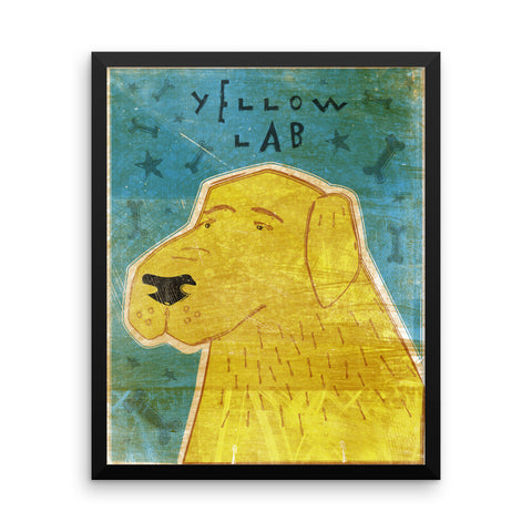 Yellow Labrador Retriever Framed poster