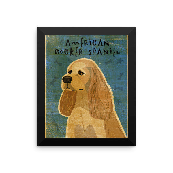 American Cocker Spaniel Framed Poster (Buff)