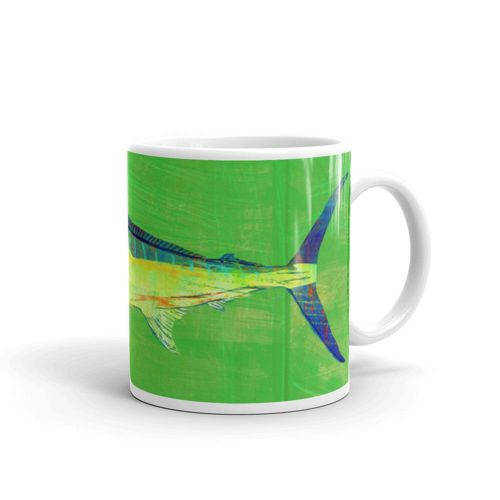 Blue Marlin Mug by John W. Golden