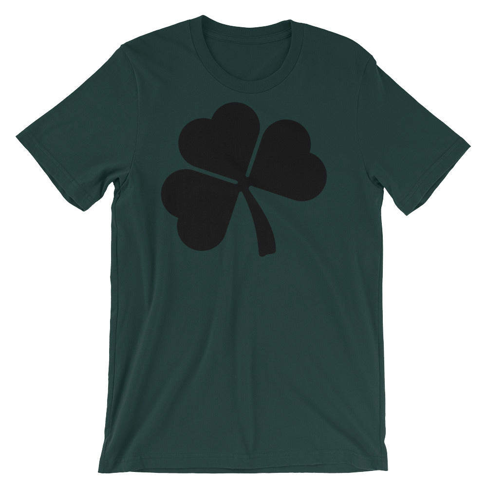 Black Shamrock St Patricks Day T-shirt