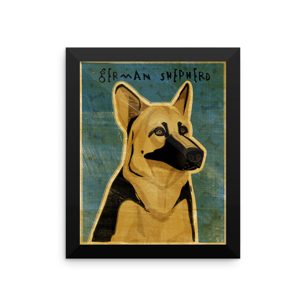 German Shepherd Framed poster