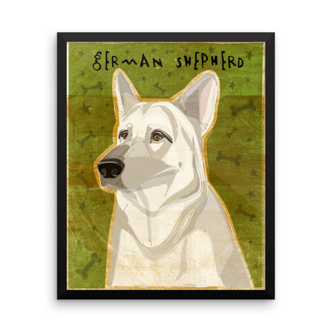 White German Shepherd Framed poster