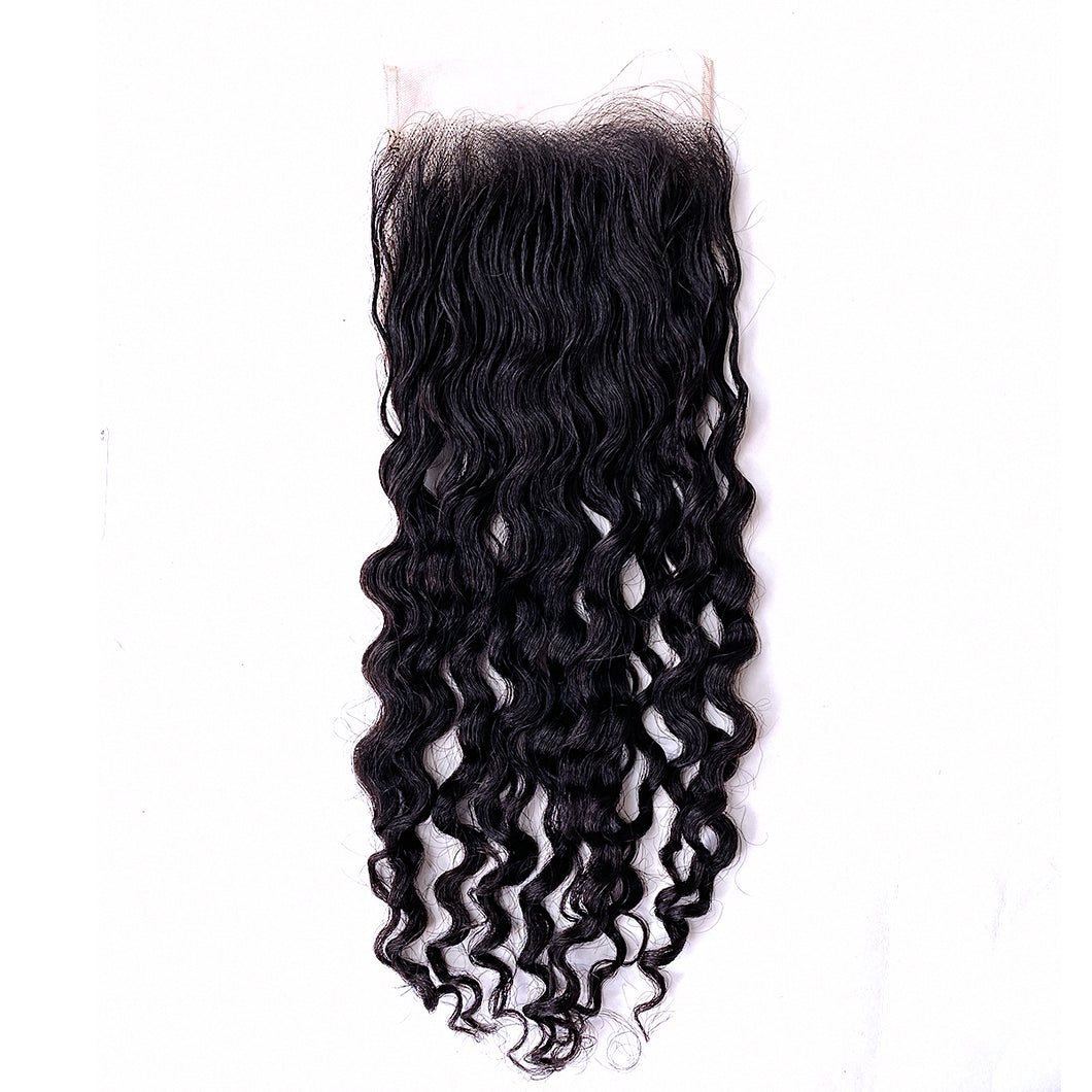 YUMMY Raw Deep Wave Burma Lace Closure -Burmese