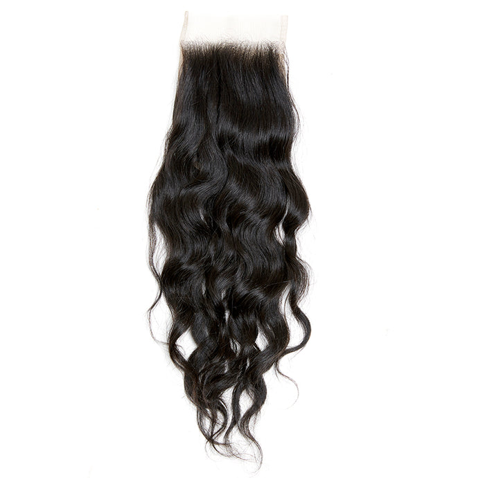 Raw Cambodian Wavy Elegance  Lace Closure