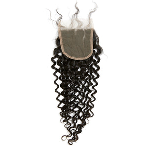 HD LACE YUMMY Virgin Deep Curl Lace Closure