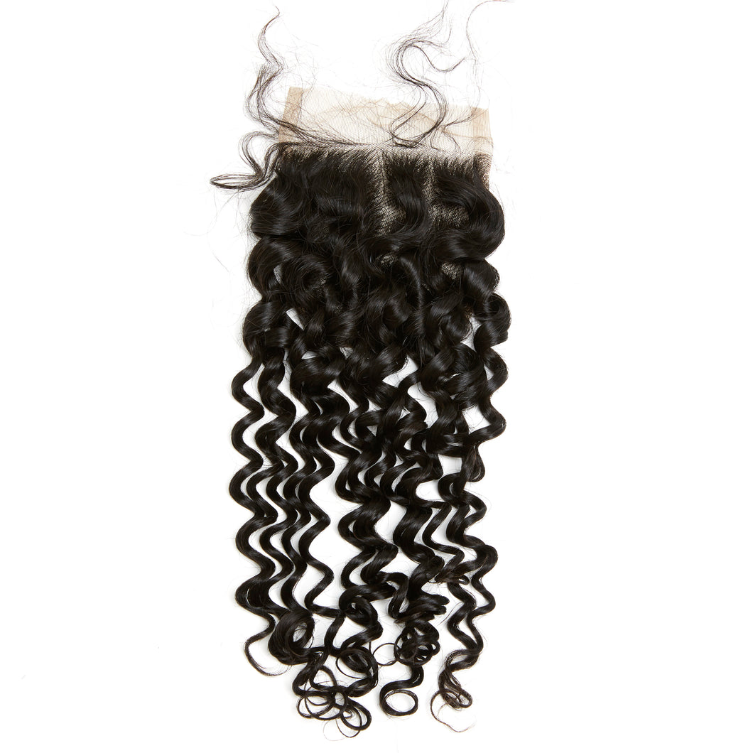 YUMMY Virgin Loose Curl Lace Closure