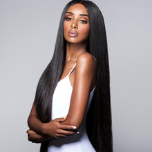 Load image into Gallery viewer, Full Lace Wig-Raw Cambodian Natural Straight-Medium Brown Lace color